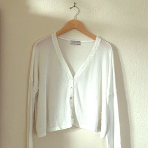 Urban Outfitters Crop Henley Long Sleeve